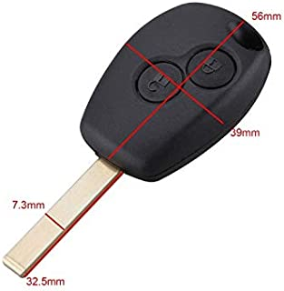 Iris-Shop - 2 Buttons Remote Key Fob Shell Case Cover Replacement Uncut Blade For
