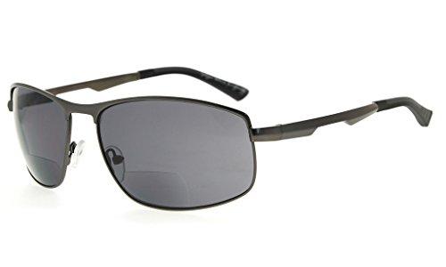 Eyekepper Gafas de sol bifocales lentes de lectura para lectores al aire libre (Gunmetal, 2.00)