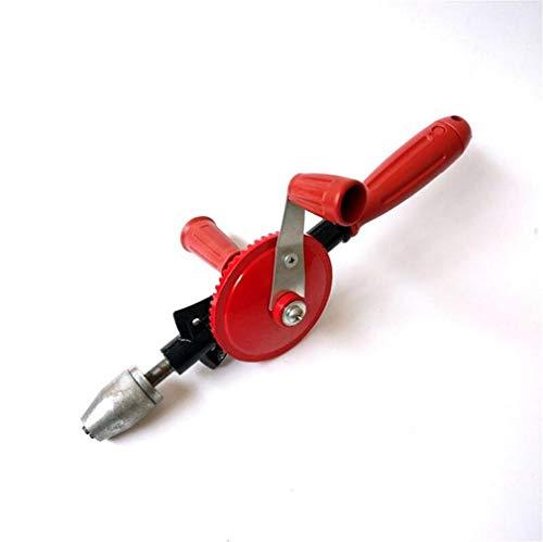Leistungsstarke Handbohrmaschine, schnelle Handbohrmaschinen Ritzel-Handbohrmaschine Kurbel-Handumdrehung tragbare Holzbearbeitung, ABS-Anti-Rutsch-Griff