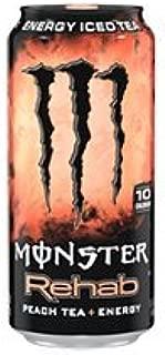 12 Pack - Monster Rehab - Peach Tea + Energy - 15.5oz