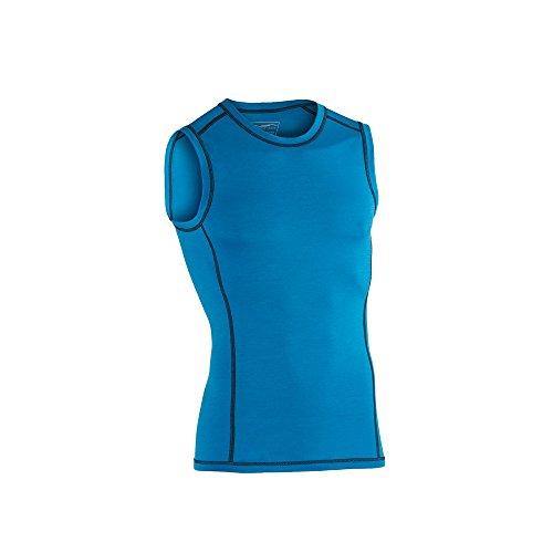 Engel Sports Bio functioneel ondergoed heren tanktop van bio merinowol en zijde met elastaanaandeel (XL, Sky)