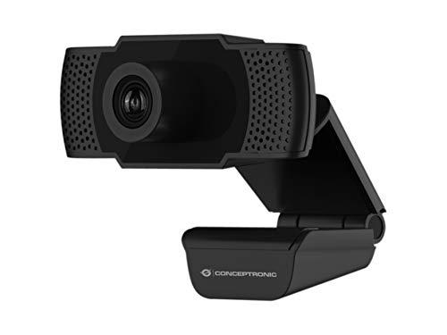 Conceptronic Webcam fhd amdis 1080p USB, Gris