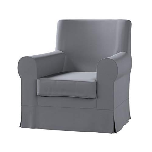 Dekoria Ektorp Jennylund Sesselbezug Sofahusse passend für IKEA Modell Ektorp Slade Grey