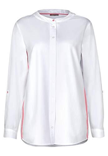 Street One Damen Bluse mit Neon Tape-Detail White 40