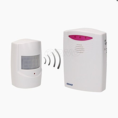 Detector de movimiento inalámbrico con timbre para entrada, 120metros (timbre + sensor de movimiento)