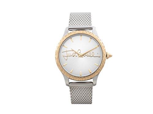 Just Cavalli Damen Datum klassisch Quarz Uhr mit Edelstahl Armband JC1L023M0115