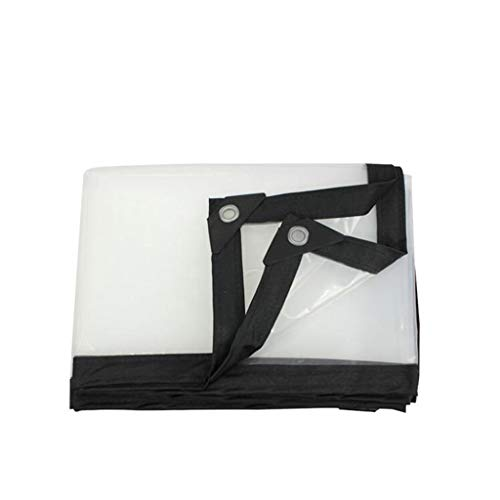 QI-CHE-YI transparante waterdichte dekzeil, transparante waterdichte doek isolatie doek vrachtwagen waterdichte cover camping, buiten, terras, regen of zon