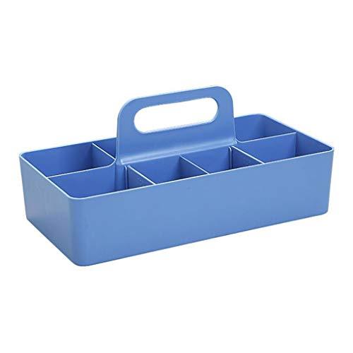 Schrijftafel organizer, draagbaar in 8 delen desktop-opbergbox ladekast opbergtas bescherming opbergdoos blauw