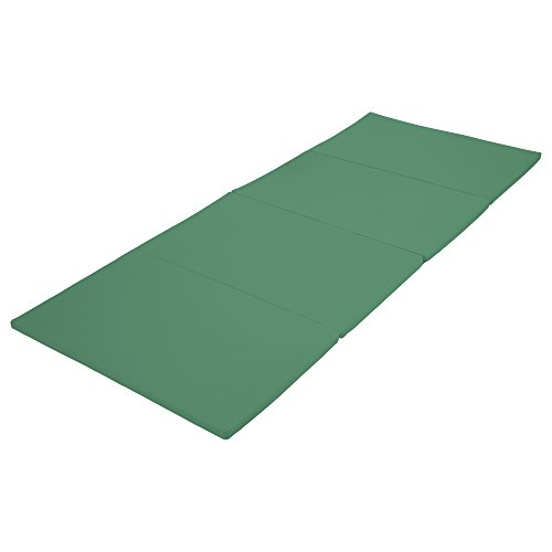 ECR4Kids SoftZone 4-Section Folding Panel Kids Tumbling Exercise Mat, 4 x 10 Feet, 1.5 Inches Thick, Emerald