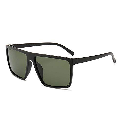Nobrand Gafas de sol polarizadas para hombres gafas de película de color de caja de tendencia de moda conjunto de estallido de gran tamaño de gafas a juego