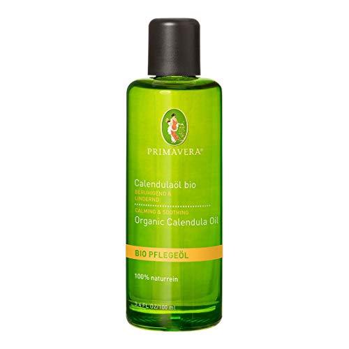 PRIMAVERA Pflegeöl Calendulaöl bio 100 ml - Naturkosmetik, Pflanzenöl, Babypflege - beruhigend, schützend - vegan