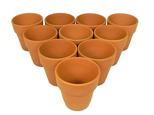 Henry Watson - Small Terracotta Flower pots - Made in England 9.5 cm x 10 cm 10 pack