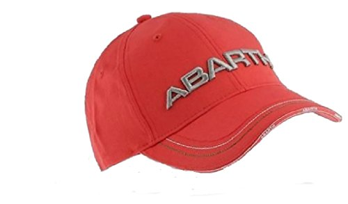 Bestickte Kappe, Abarth Rally Fiat mit 3D-Logo - rot