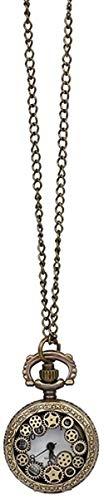 CCXXYANG Co.,ltd Necklace Vintage Steampunk Retro Bronze Design Pocket Watch Quartz Pendant Necklace Gift Watch Clock
