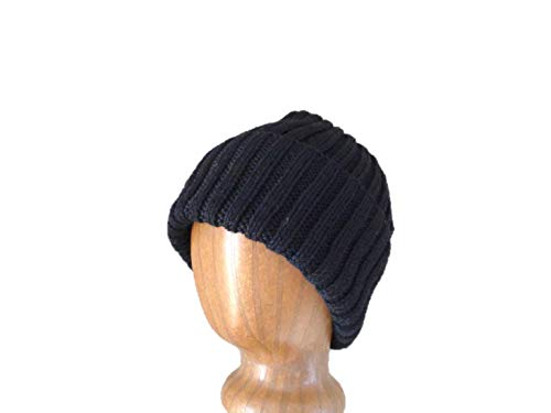 XL Mens Hat, Hand Knit, 100% Wool, Beanie Hat, Watch Cap with Brim, Natural Fiber, Extra Large, COLOR CHOICES