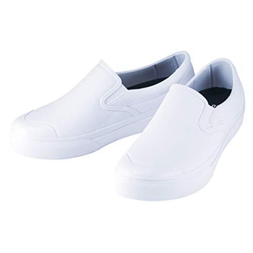 [丸五] 安全靴 スニーカー マンダム 作業靴 完全防水 マルゴ 安全シューズ 防水 耐滑 先芯なし 帯電防止 白 ホワイト ローカット スリッポン 男性 メンズ 女性 レディース 靴 シューズ 紳士 婦人(ホワイト_56 27.0cm)