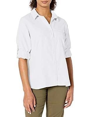 Columbia Women's East Ridge Ii Long Sleeve Shirt, White, X-Large