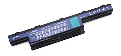 Batterie LI-ION 4400mAh 11.1V en Noir pour Acer Aspire 4551, 4551-322G32, 4551-1499 etc. remplace 31CR19/652, AS10D31, AS10D3E, AS10D41 etc