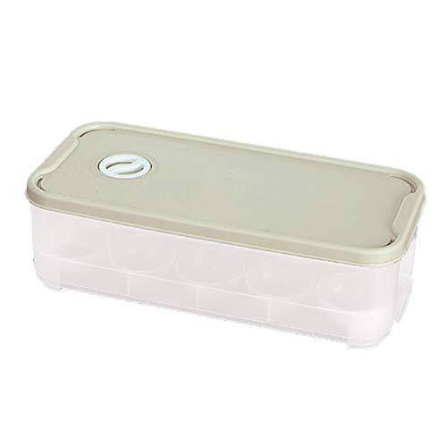 10 Eierhalter Behälter Aufbewahrung – Eierablage Halter Box, Kunststoff überzogene Eierschalen für Kühlschrank, tragbar, stapelbar (grün) (grün)