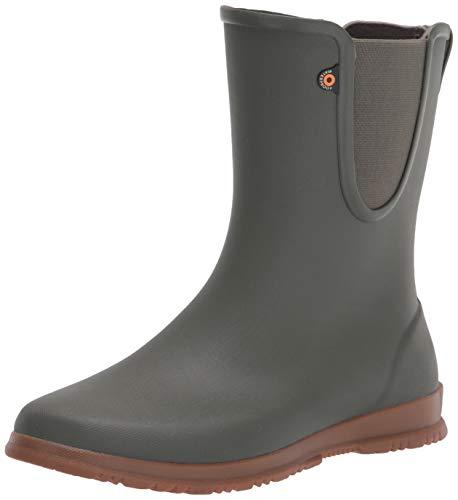 BOGS Womens Sweetpea Tall Boot Rain Shoe, Sage, 8