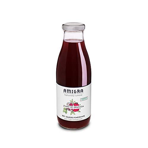 AMIGRA 100% Pur Jus de Grenade Bio Directement Pressées, non de concentré (NFC), Antioxydant - 6 bouteilles x 750ml