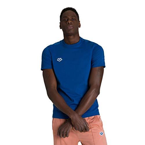ARENA Team Camiseta de Manga Corta, Hombre, Azul (Triple Denim), L