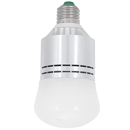 12W Sensor inteligente Bombilla LED E27 Control de luz Lámpara de inducción Interruptor automático para porche exterior/interior Patio Garaje Pasillo Blanco cálido 85-265V
