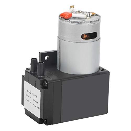 Mini bomba de vacío, Chacerls DC24V 12W Mini pequeña bomba de vacío sin aceite -80KPa Flujo 10L/min para gas aire