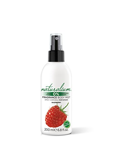 Naturalium Frambuesa - Spray Corporal Perfumado Refrescante, Sin Parabenos, Sin Colorantes, formato 200 ml