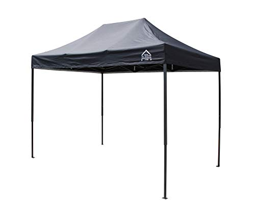 All Seasons Gazebos, 3x2m Heavy Duty Fully Waterproof, Premium Pop Up Gazebo + Carry Bag and Weights (Black)