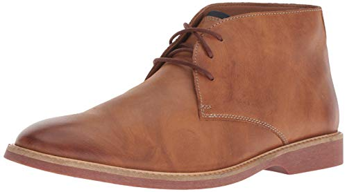 Clarks mens Atticus Limit Chukka Boot, Tan Leather, 10.5 US