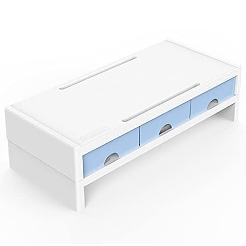 Laptop Stands Soporte para Monitor Soporte para Computadora Portátil para Escritorio con Cajón Soporte para Computadora con Soporte para Teléfono Móvil Soporte Vertical para Monitor