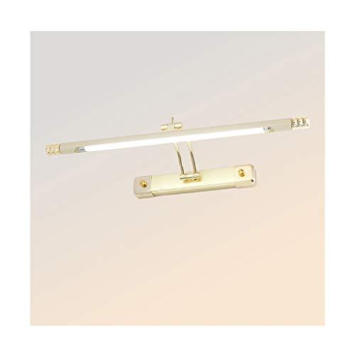 QFF Luz de Espejo Luz Delantera del Espejo LED, luz Impermeable Retractable Retractable del gabinete del Espejo de la Niebla Impermeable y antivaho (Color : B, Size : 66cm-20w)
