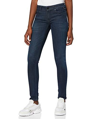 Replay Damen LUZ Skinny Jeans, Blau (Dark Blue 7), 24W / 32L