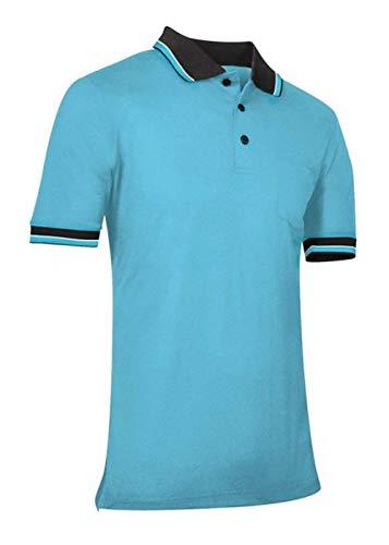 CHAMPRO Baseball/Softball Umpire Polo Shirt - Polyester, Adult Medium, Light Blue