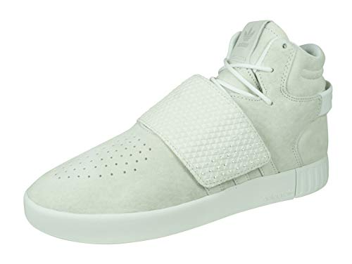 adidas Originals Tubular Invader Strap Herren-Basketball Turnschuhe/Schuhe-Off White-43 1/3