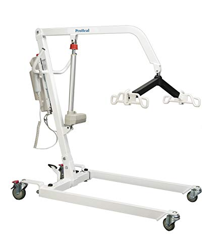 ProHeal Electric Lift - Safe and Easy Full Body Patient Transfer Lifter for Home Use and Facilities - Floor, Low Bed and Chair Lifting, 500 Pound Weight Capacity, 6 Point Spreader Bar
