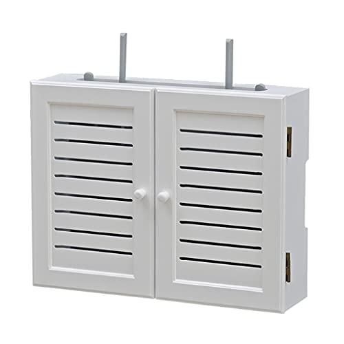 Multifunción Enrutador inalámbrico Soporte enrutador enrutador caja de almacenamiento conjunto-top caja estante montado en la pared wifi estante de pared Decoración de la pared Información de la caja