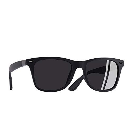 FUZHISI Gafas de Sol Gafas de Sol polarizadas clásicas Hombres Mujeres Que conducen el Marco Cuadrado Gafas de Sol Goggle Masculino UV400, Blackblack