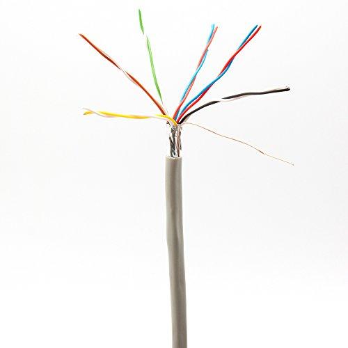 Cable para cerradura, timbre, cerradura eléctrica con videoportero, interfono, alarma de 8 cables, 12 cables, 0,6mm², Abus, Avidsen, SCS, Nice, Bosch, Somfy, Extel...