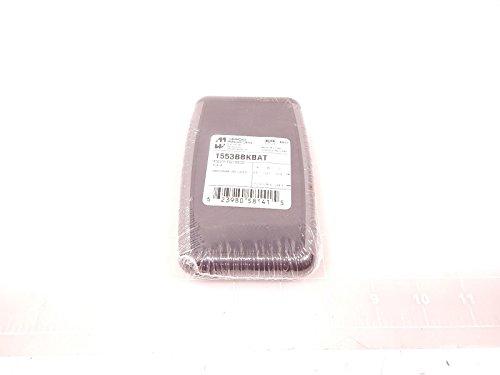 Hammond 1553bbkbat Boîtier série, 1553, ergonomique, souple, double face, compartiment Batterie, douchette, 117 mm, 79 mm, 24 mm