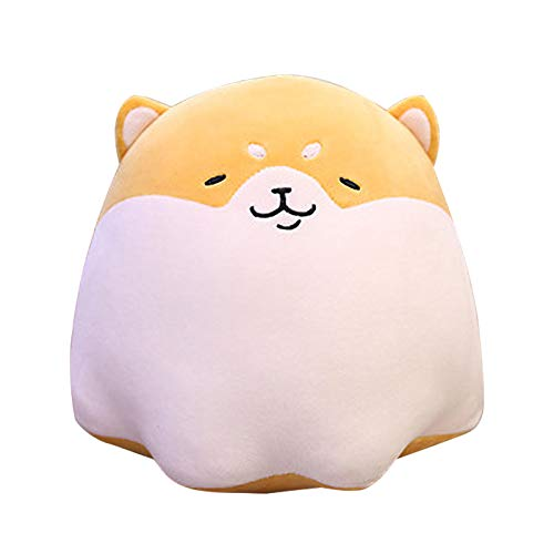LAIYIFA Toys for 2+ Year Old Cute Shiba Inu Doll Pillow Soft Waist Cushion Plush Stuffed Toy Birthday Gift for Boys Girls 2 3 4 5 6 7 8 9 Years Old, Home Decoration Yellow