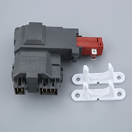 Junlucki Nuevo Interruptor de Bloqueo de Puerta de Lavadora 131763202 Striker 131763310 para Lavadora Electrolux Frigidaire
