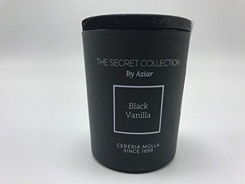 CERERIA MOLLA 1899 - The Secret Collection by Aziar Black Vanilla Luxury Scented Candle 2.46oz