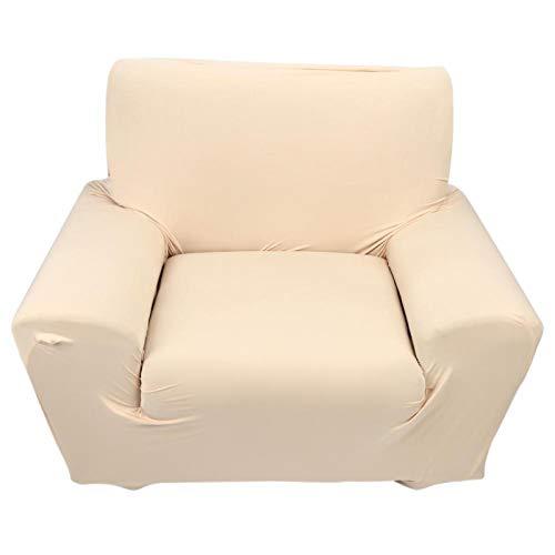 Jeanoko Funda para sofá, funda de sofá individual, 8% fibra de poliuretano, 92% poliéster, para el hogar (beige)