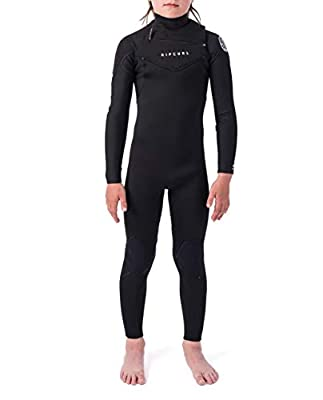 Rip Curl Dawn Patrol Wetsuit   Kid's Neoprene Full Suit Chest Zip Wetsuit for Surfing, Watersports, Swimming, Snorkeling Design for Durability   4/3mm