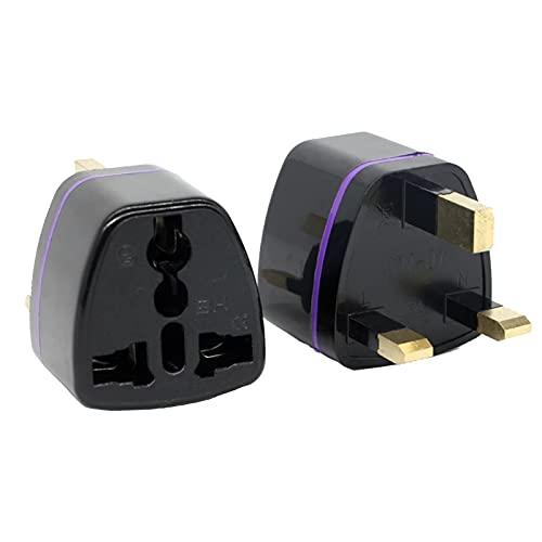 Adaptador de conversión de enchufe - 250V 10A Universal Travel AU UK EU to US AC Power Plug Converter, Adaptador de conversión de enchufe Convertidor de salida, 1pc(negro)