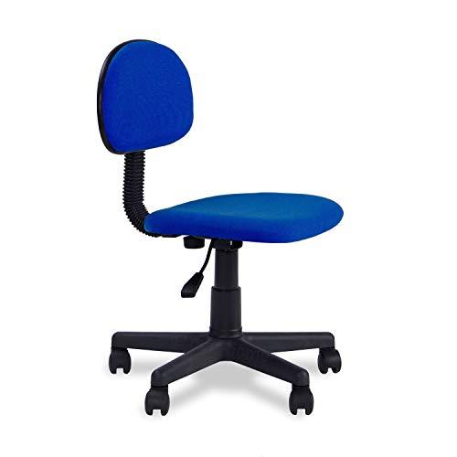 Adec - Lucky, Silla de Escritorio giratoria, Silla Juvenil de Oficina, Acabado en Color Azul, Medidas: 54 cm (Ancho) x 54 cm (Fondo), 76-88 cm (Alto)