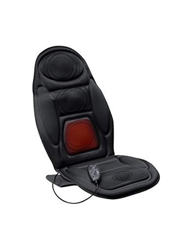Lanaform Back Massager - Siège massant & chauffant pour le dos et la nuque   Masage par vibration - 4 modes de massage