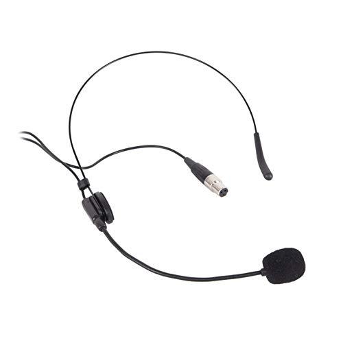 Proel EIKON HCM25AK - Microfono ad archetto a condensatore miniaturizzato con connettore mini cannon XLR 3 poli Femmina, Nero (HCM25AK)
